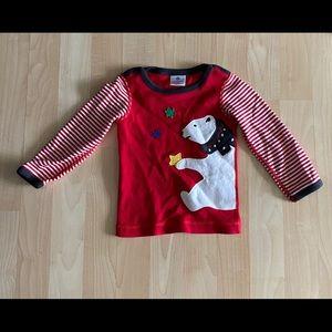 Hanna Andersson Festive Bear Shirt 80 (18-24 M)